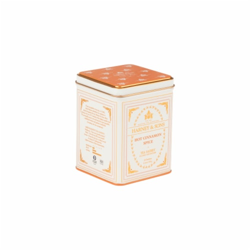 Harney & Sons Hot Cinnamon Spice Tea Sachets Tin Perspective: front