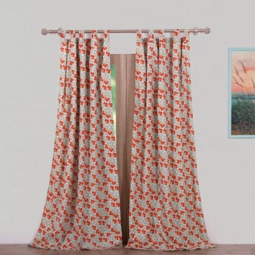 Saltoro Sherpi Terra Blossom Window Panel Pair Perspective: front