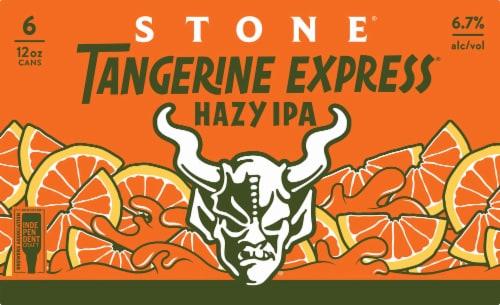 Stone Tangerine Express Hazy IPA Perspective: front
