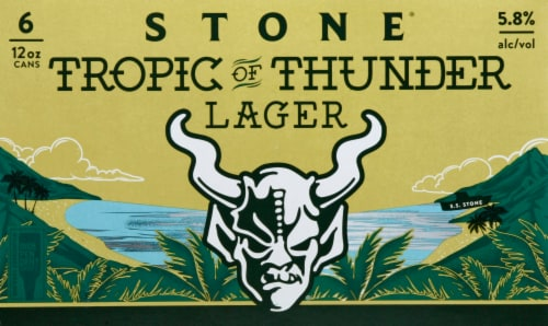 Stone Brewing Co Tropic of Thunder Lager Perspective: front