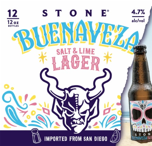 Stone Brewing Co. Buenaveza Salt and Lime Lager Perspective: front