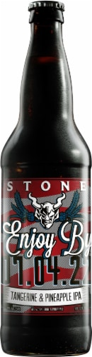 Stone Enjoy By 01.01.21 Unfiltered IPA Perspective: front