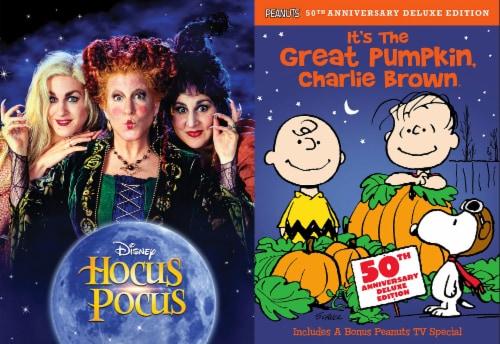 Halloween DVD 2 Pack: Hocus Pocus / It's The Great Pumpkin Charlie Brown Perspective: front