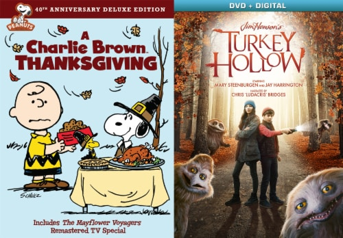 Thanksgiving 2 Pack: Charlie Brown Thanksgiving and Jim Henson Turkey Hollow (DVD/Digital Copy) Perspective: front