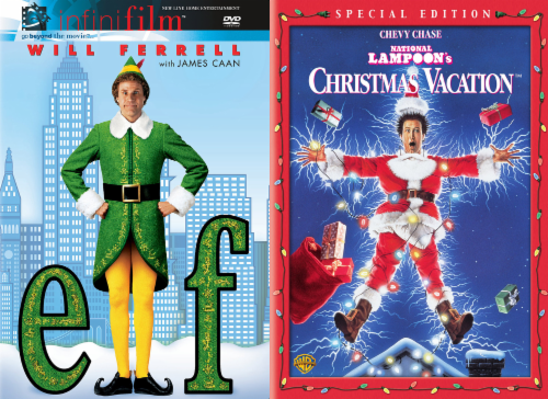 Holiday 2 Pack: Elf and National Lampoons Christmas Vacation (DVD) Perspective: front