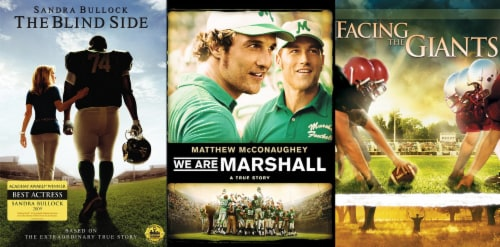 Football DVD 3 Pack: Blind Side / We are Marshall / Facing the Giants (DVD) Perspective: front