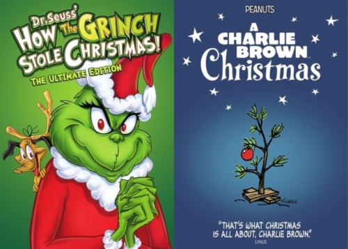 How the Grinch Stole Christmas / A Charlie Brown Christmas (1966/1965 - DVD) Perspective: front