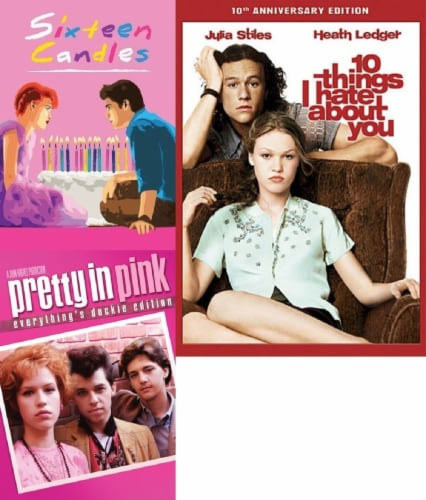 Sixteen Candles / Pretty in Pink / 10 Things I Hate About You DVD Bundle Perspective: front