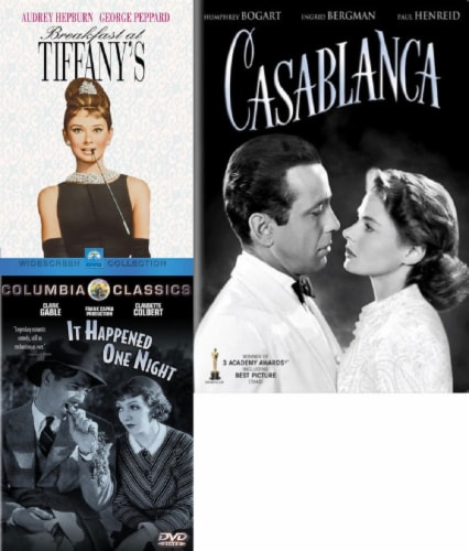 Breakfast at Tiffany's / It Happened One Night / Casablanca DVD Bundle Perspective: front