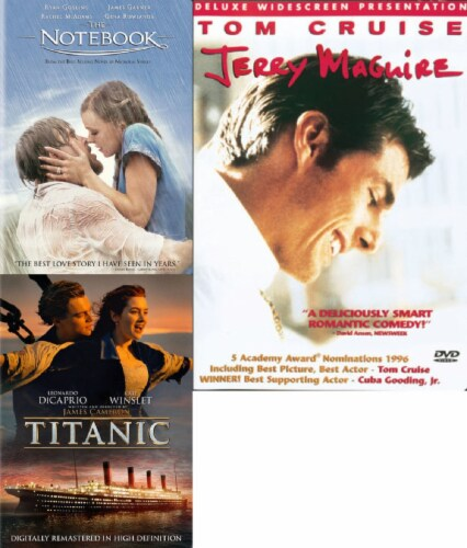 The Notebook / Titantic / Jerry Maguire DVD Bundle Perspective: front