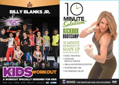 Dio Balance it Out Kids Workout 2-DVD Collection Perspective: front