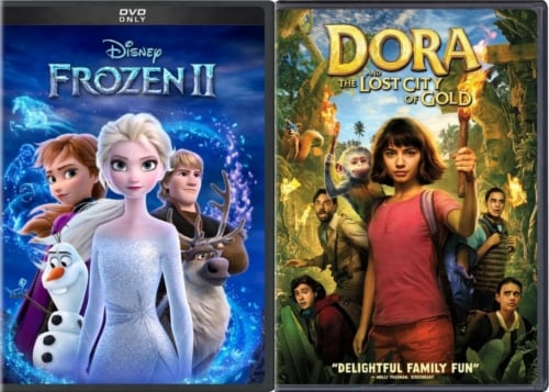 Frozen and Dora & The Lost City of Gold Kids DuoPack (DVD) Perspective: front