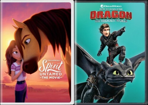 Spirit Untamed and How To Train Your Dragon: Hidden World Kids DuoPack (DVD) Perspective: front