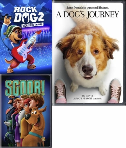 Rock Dog 2/ Scoob/ Dogs Journey Kids 3-Pack (DVD) Perspective: front