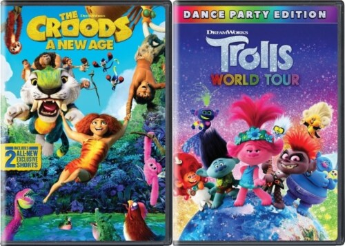 Kids DVD Pack Croods: New Age (2020) / Trolls World Tour (2020) Perspective: front