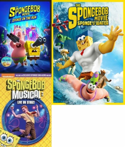 Spongebob: On the Run/ Musical Live/ Sponge out of Water KIds 3-Pack (DVD) Perspective: front