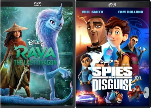 Raya and the Last Dragon/ Spies in Disguise Kids DuoPack (DVD) Perspective: front