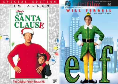 Holiday DVD Pack The Santa Clause (1994) / Elf (2004) Perspective: front