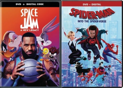 Space Jam: A New Legacy and Spider Man: Into the Spider-Verse Kids DuoPack (DVD) Perspective: front