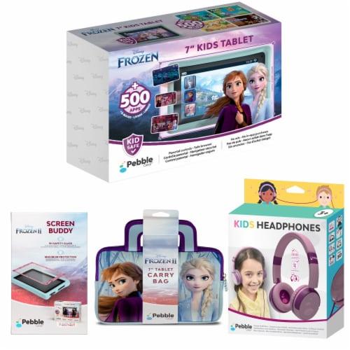 Pebble Gear™ Frozen Kids Tablet Bundle Perspective: front