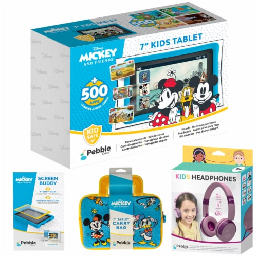 Pebble Gear™ Mickey and Friends Kids Tablet Bundle Perspective: front