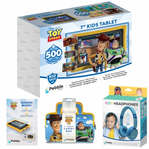 Pebble Gear™ Toy Story Kids Tablet Bundle Perspective: front