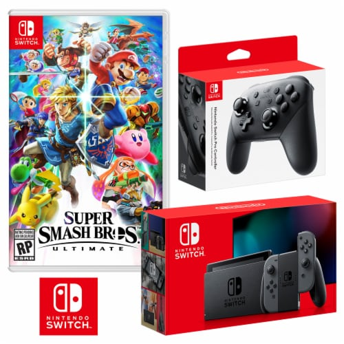 Nintendo Switch Super Smash Bros. Ultimate Bundle Perspective: front