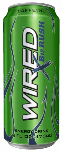 Wired X B12 Rush Energy Drink Perspective: front