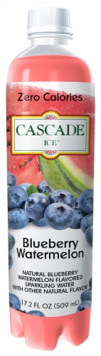 Cascade Ice Blueberry Watermelon Flavored Sparkling Water Perspective: front