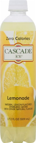 Cascade Ice Sparkling Lemonade Water Perspective: front