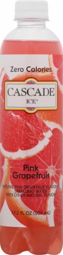 Cascade Ice Pink Grapefruit Zero Calories Sparkling Water Perspective: front