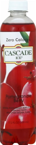 Cascade Ice Pomegranate Berry Zero Calories Sparkling Water Perspective: front