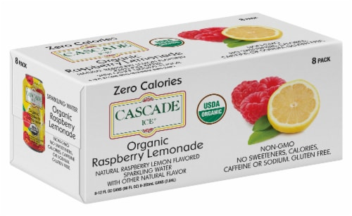 Cascade Ice Organic Raspberry Lemonade Sparkling Water Perspective: front