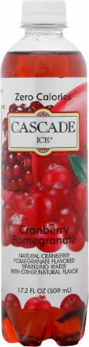 Cascade Ice Cranberry Pomegranate Flavored Sparkling Water Perspective: front