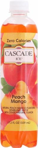 Cascade Ice Peach Mango Zero Calories Sparkling Water Perspective: front