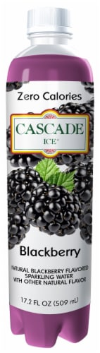 Cascade Ice Blackberry Flavored Sparkling Water Perspective: front