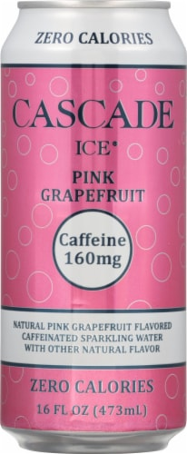 Cascade Ice Organic Pink Grapefruit Caffeinated Sparkling Water Perspective: front