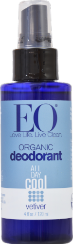 EO Products Organic Vetiver Deodorant Spray Perspective: front