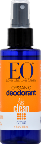 EO Products Organic Citrus Deodorant Spray Perspective: front