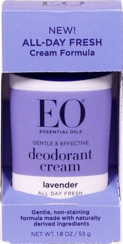 EO Essential Oil Products Lavender Deodorant Cream Perspective: front