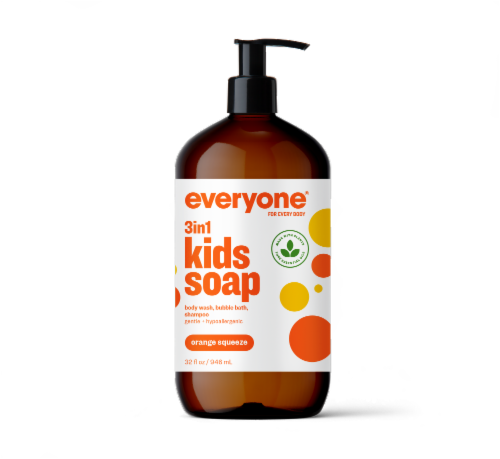 Everyone Kid Orange Squeeze Soap Perspective: front