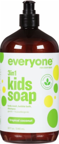 Everyone Kid Tropical Coconut Twist Soap Perspective: front