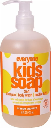 EO Essential Oil Products Everyone™ Kids Soap 3in1 Orange Squeeze Perspective: front