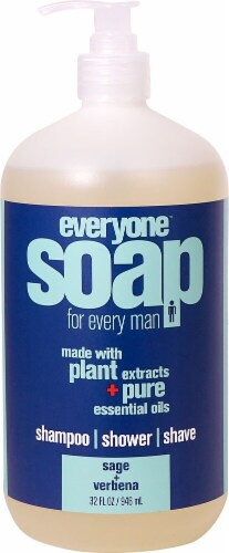 EO Essential Oil Products  Everyone™ Soap For Every Man Sage and Verbena Perspective: front