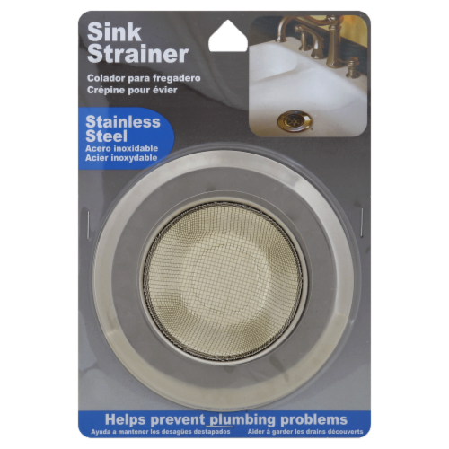 Lami Stainless Steel Sink Strainer - Silver Perspective: front