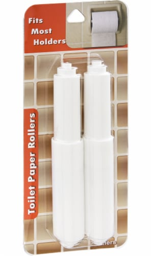 Toilet Paper Rollers - White Perspective: front