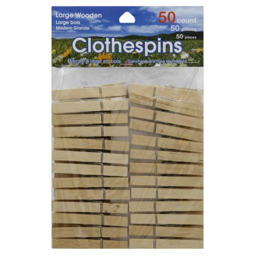 Brite Concepts Large Wooden Clothespins Perspective: front
