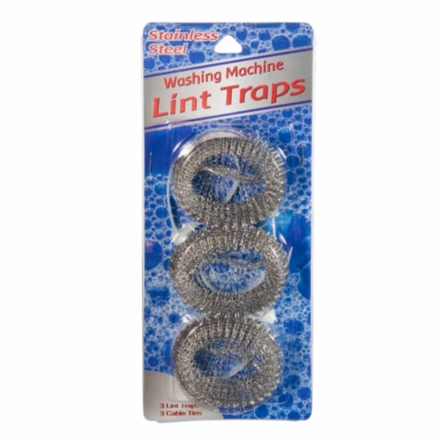 ATA Retail Stainless Steel Washing Machine Lint Traps - Silver Perspective: front