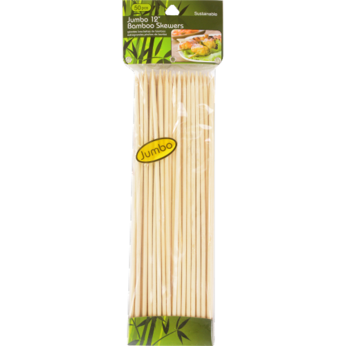 ATA Retail Jumbo Bamboo Skewers - 50 Pack Perspective: front
