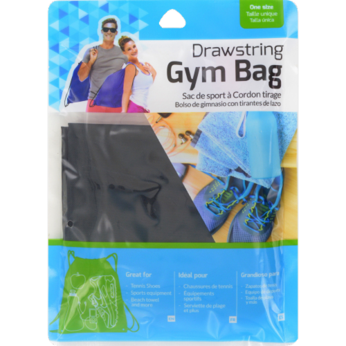 Brite Concepts Drawstring Gym Bag Perspective: front